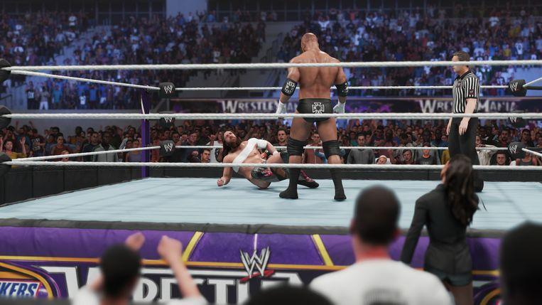 Screenshot uit 'WWE 2K19'.