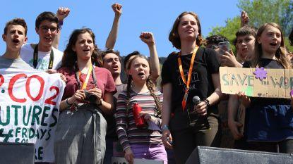 Greta en Anuna betogen met duizenden in Rome