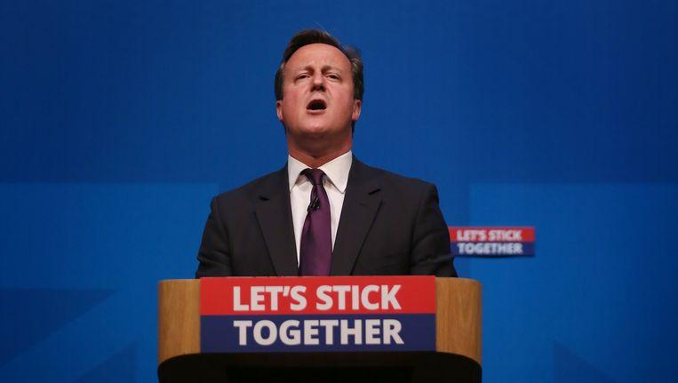 De Britse premier David Cameron. Beeld getty