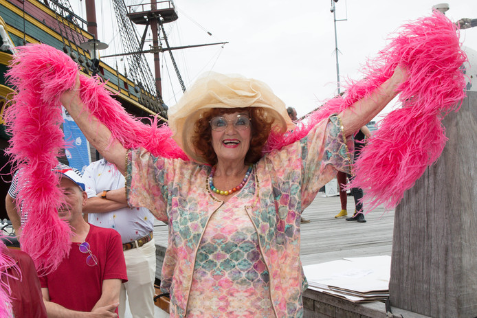 Imca Marina tijdens de  Canal Parade (Gay Pride) in Amsterdam.