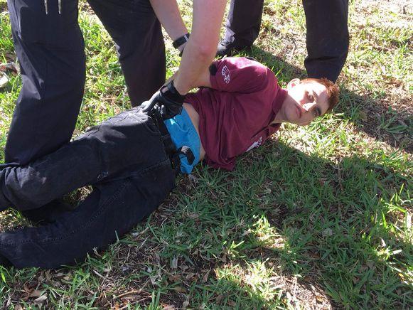 Een agent maakte deze foto van Cruz bij zijn arrestatie.
