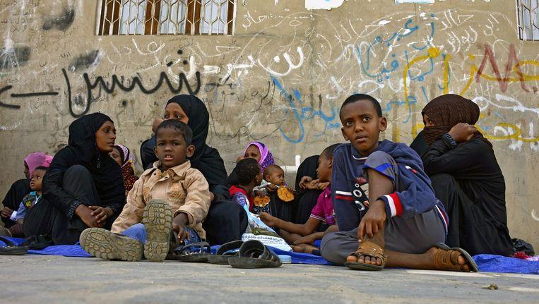 Vluchtelingen uit Eritrea in Sanaa, Jemen. (Archiefbeeld 2014) Beeld epa