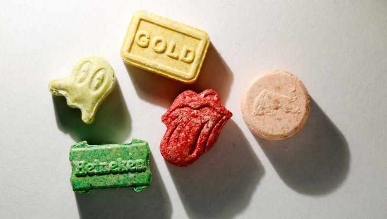 Verschillende xtc-pillen. Beeld anp