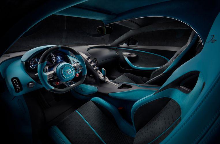 Het interieur van de Bugatti Divo