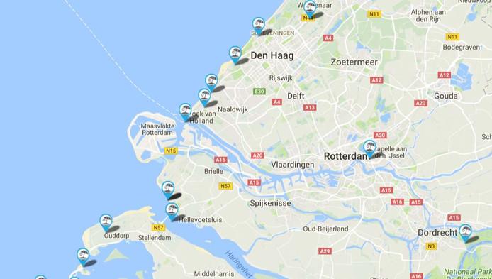 In onze regio zijn meerdere stranden met een Blauwe Vlag.