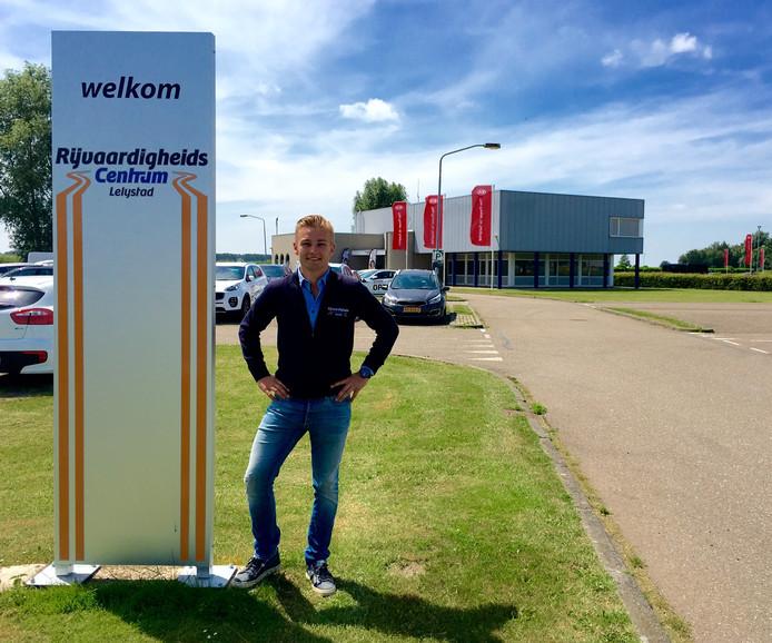 Indy Dontje is de nieuwe eigenaar van het voormalige ANWB-testcircuit dat hij Rijvaardigheidscentrum Lelystad heeft genoemd.