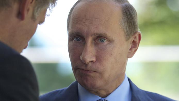 Dmitri Peskov, porte-parole du Kremlin, et VLadimir Poutine.