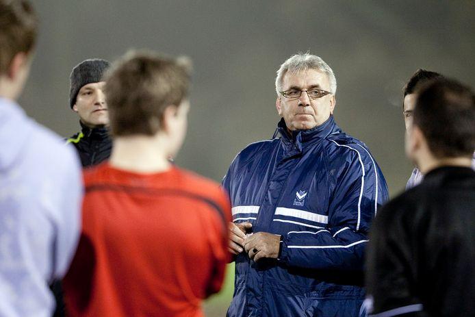 John Trentelman in zijn tijd als trainer van Doesburg.