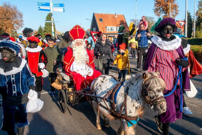 Sinterklaasintocht in Heelsum in 2018.