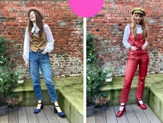 """Je eigen stijl opbouwen met tweedehands kledij? Britt en Camilla doen het voor en geven tips: """"Probeer eens een extravagante jurk te downsizen met regenlaarzen"""""""