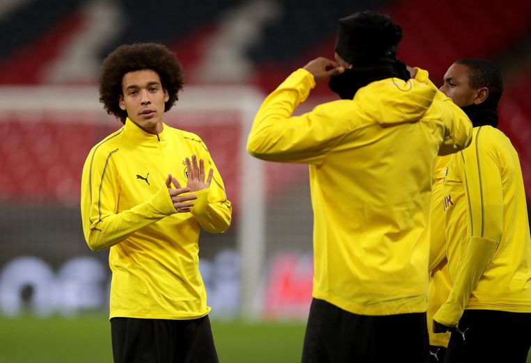 Borussia Dortmund's Axel Witsel during a training session at Wembley Stadium, London. © PHOTO NEWS / PICTURE NOT INCLUDED IN THE CONTRACTS  ! only BELGIUM !