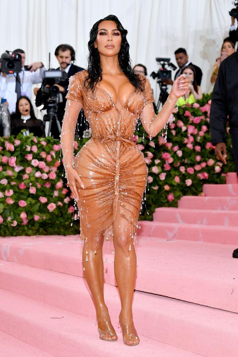 Kim Kardashian op het Met Ball. Beeld FilmMagic