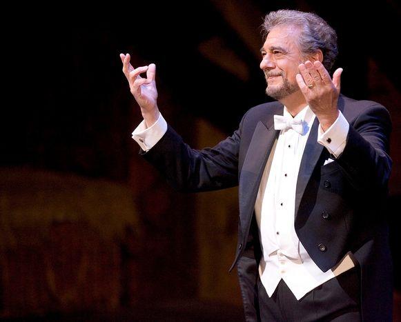 Placido Domingo na een optreden bij de Metropolitan Opera in New York.