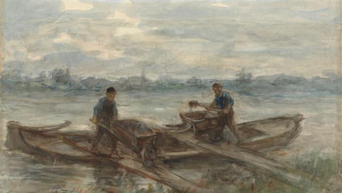 De aquarel Baggerlui van Jozef Israëls uit 1895 werd door Mesdag aangekocht voor 1500 gulden, in die tijd een enorm bedrag.