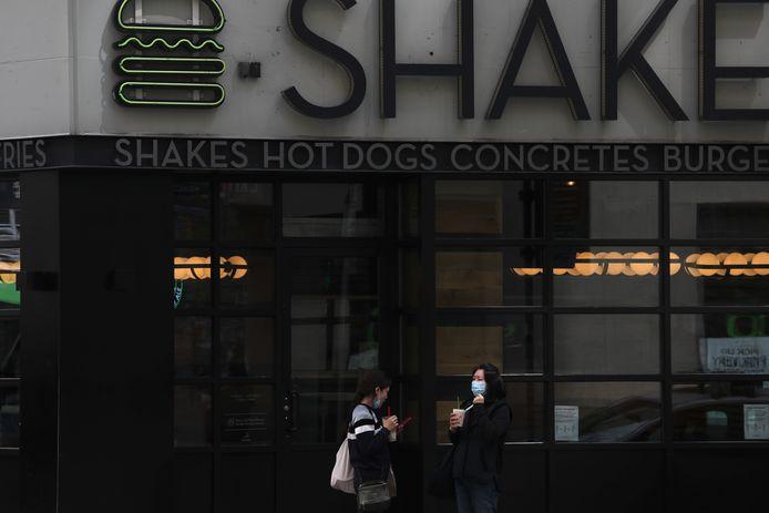 Een vestiging van Shake Shack in New York.