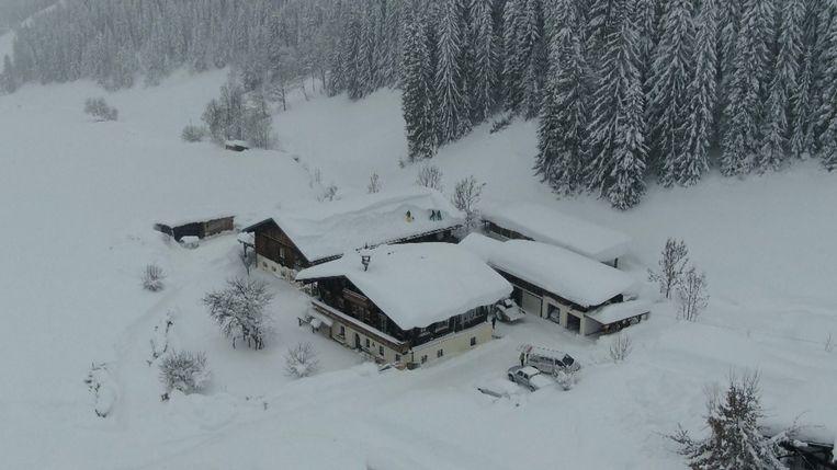 Dronebeelden van Filzmoos, Oostenrijk.