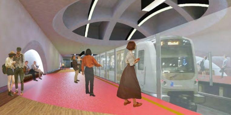 Simulatiebeeld station Toots Thielemans