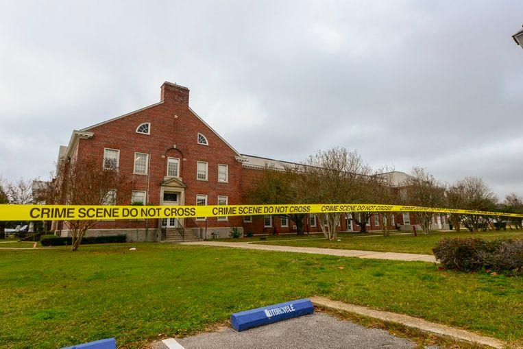 De FBI zette een deel van de legerbasis af na de schietpartij.