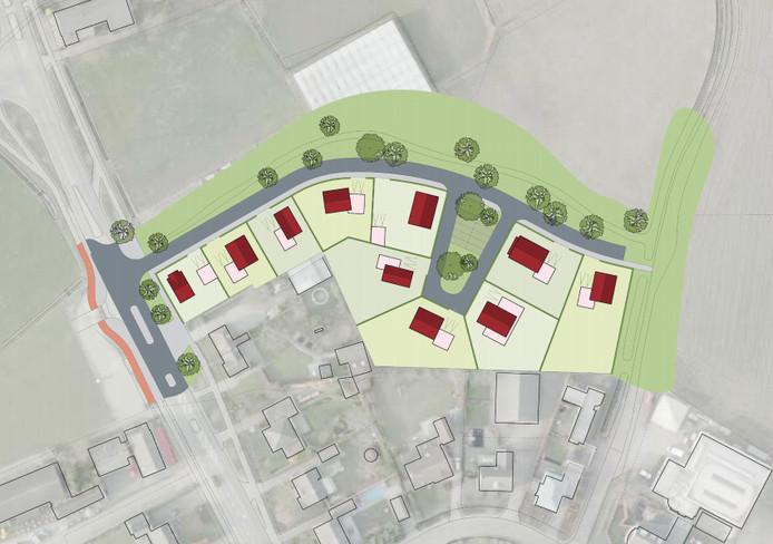 Het beeldkwaliteitsplan voor de 10 woningen aan de noord-oostzijde van Hilvarenbeek.