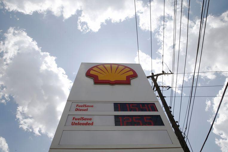 Een tankstation van Shell.  Beeld REUTERS