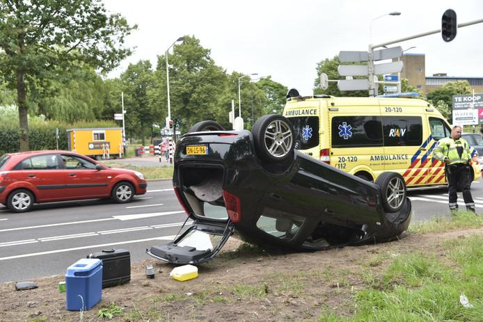 Botsing op de Nieuwe Kadijk in Breda.