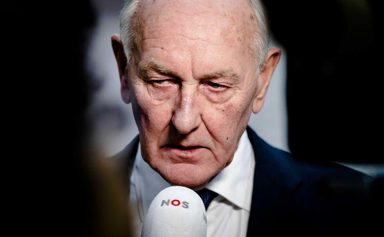Johan Remkes reageert op het besluit om geen vreugdevuren toe te staan in Den Haag. De waarnemend burgemeester keurde de aanvraag af, omdat de organisatoren niet voldeden aan de gestelde eisen.  Beeld ANP