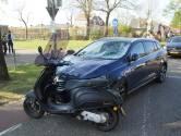 Scootterrijder flink gewond na botsing met auto in Sprang-Capelle