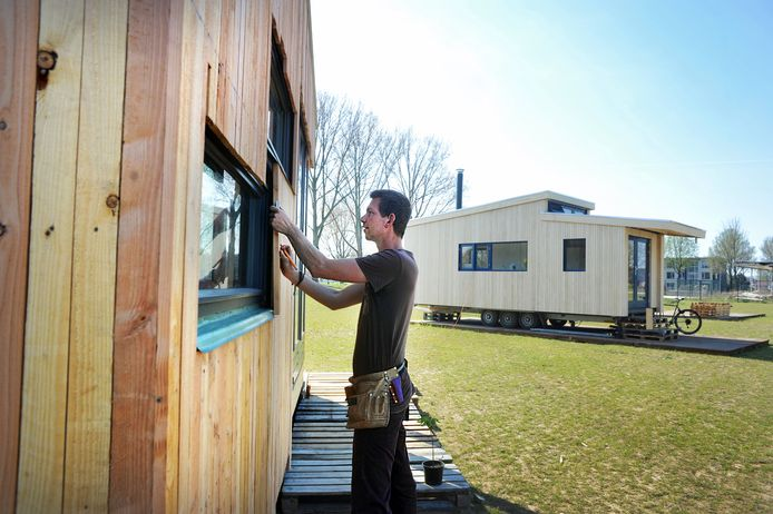 Foto ter illustratie: tiny houses in Dordrecht.