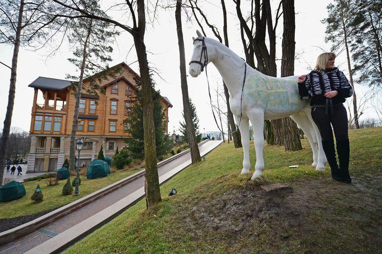 Het landgoed van Janoekovitsj. Beeld getty