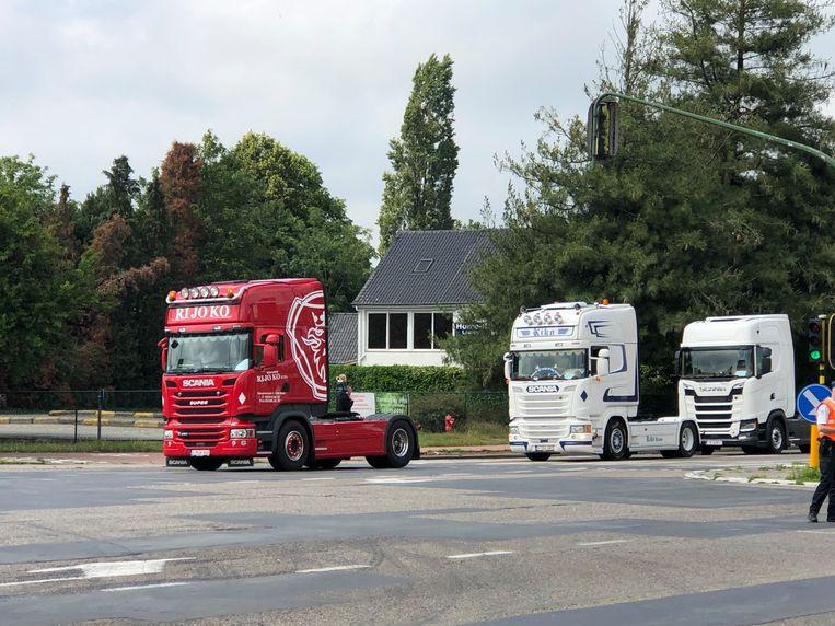 De Truckrun passeerde onder meer over de Ring in Turnhout