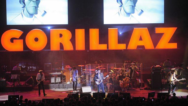 The Gorillaz tijdens een concert in 2010. Beeld anp