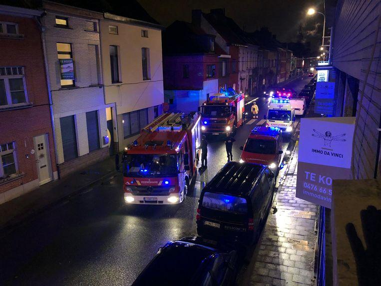 De brandweer rukte uit met enkele wagens.