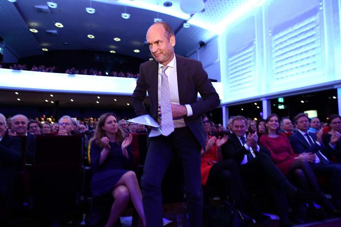 Partijleider Gert-Jan Segers op het partijcongres van de ChristenUnie in Zwolle.