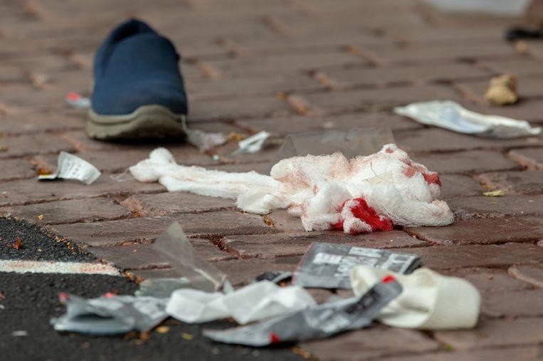 De schutter drong de Al Noor moskee in het centrum van Christchurch binnen, terwijl daar ongeveer driehonderd gelovigen waren. Ooggetuigen hoorden zeker vijftig schoten. Beeld REUTERS