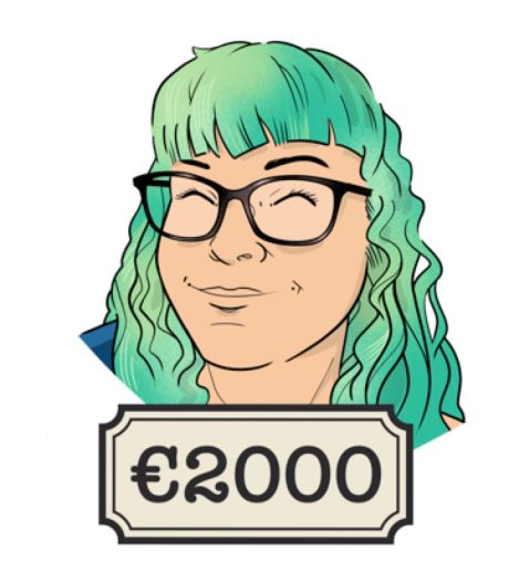 Illustrator Iris (41): 'De ene maand komt er 10.000 dollar binnen, de andere maand niks'