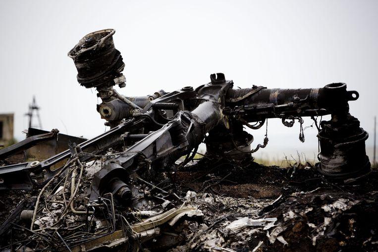 Resten van de MH17 in Oekraïne Beeld anp