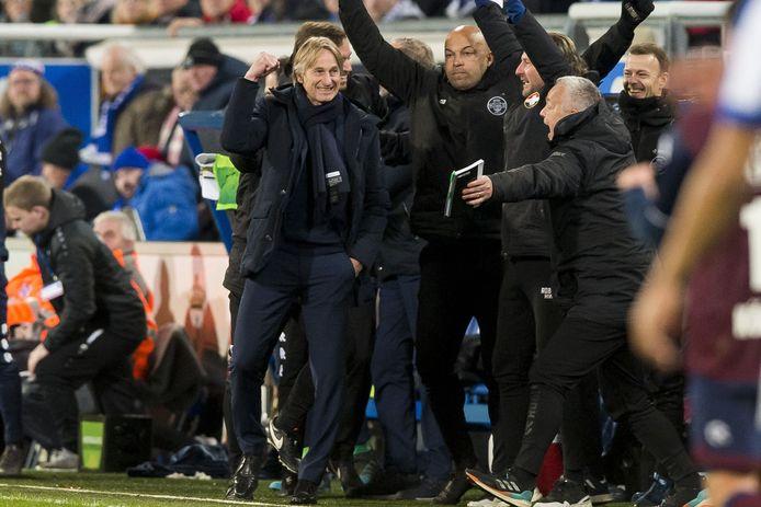 Vreugde bij de technische staf van Willem II.