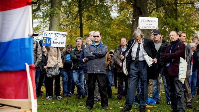 Een demonstratie van Pegida in Utrecht.