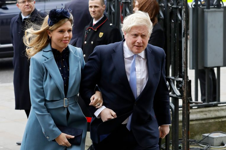 Archiefbeeld, Carrie Symonds en Boris Johnson.
