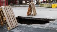 Grondverzakking veroorzaakt metersgroot gat, straat afgesloten in Zwevegem