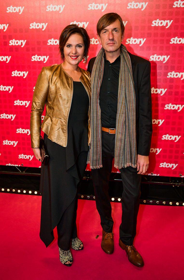'Familie'-actrice Caroline Maes en haar man Peter.
