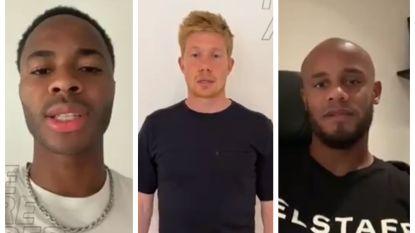 """""""We zijn het beu"""", Kevin De Bruyne en Vincent Kompany steunen actie tegen racisme in het voetbal"""