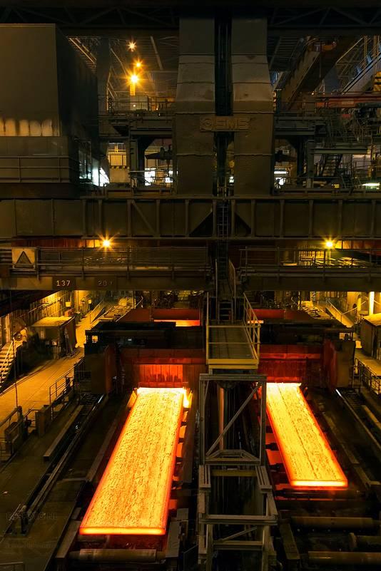 Staalproductie bij ArcelorMittal in Gent.