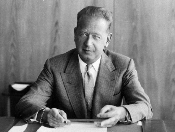Dag Hammarskjold op een foto uit 1959.