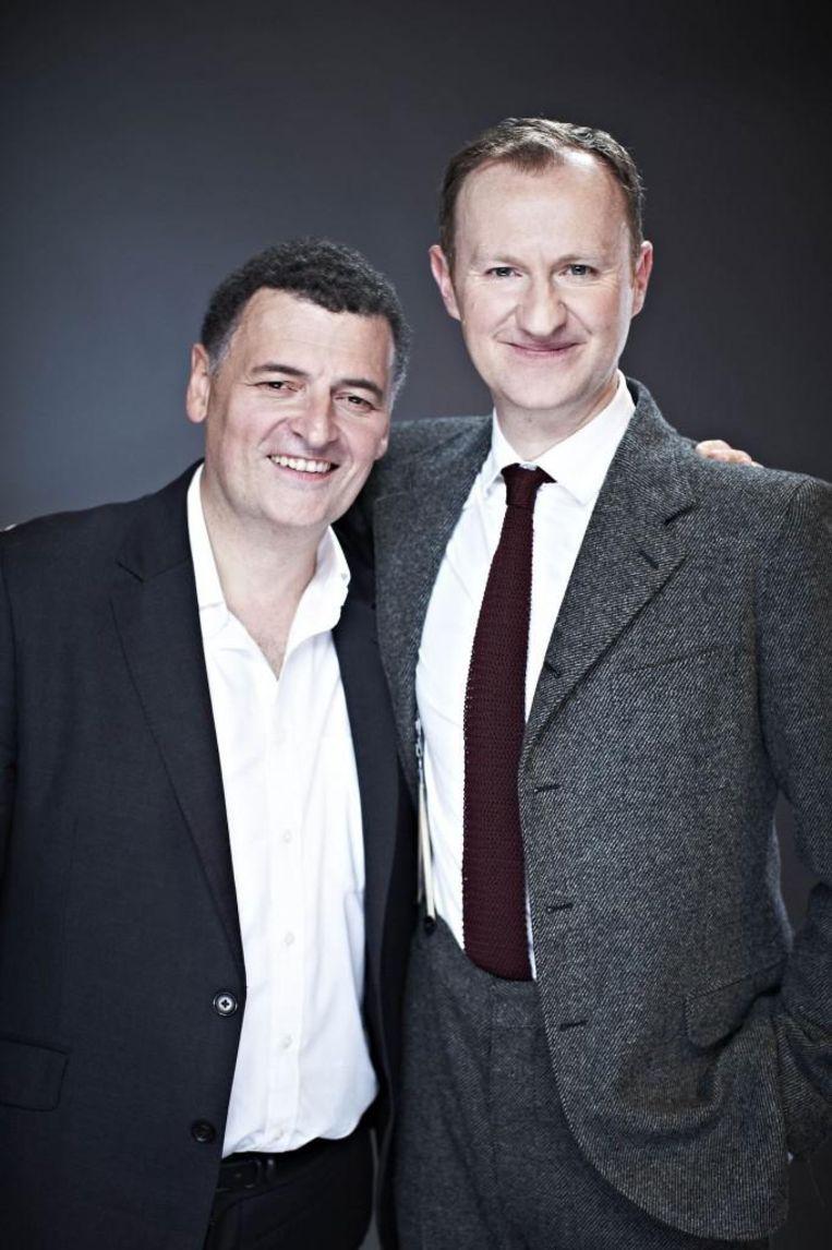 Auteurs Mark Gatiss en Steven Moffat. Beeld