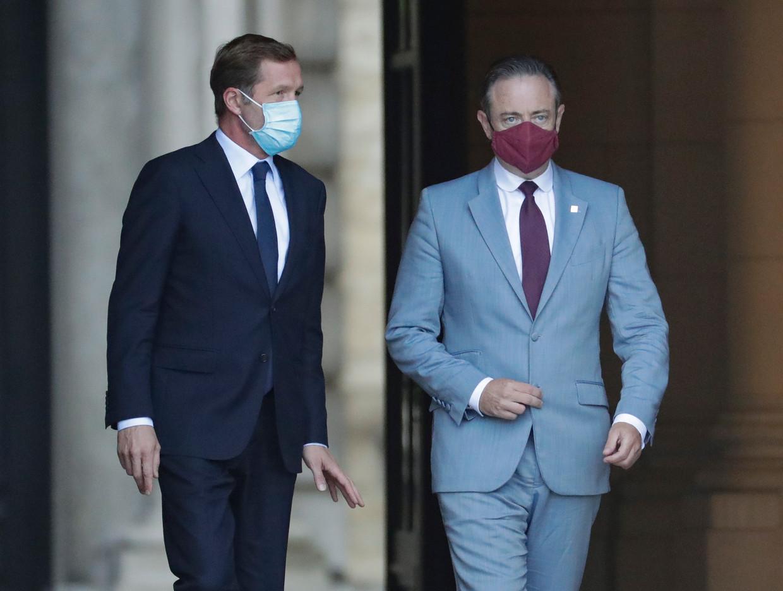Partijvoorzitters Paul Magnette (PS) en Bart De Wever (N-VA) werkten deze zomer een akkoord uit.