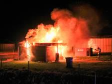Jongerenkeet door brand verwoest in IJsselmuiden