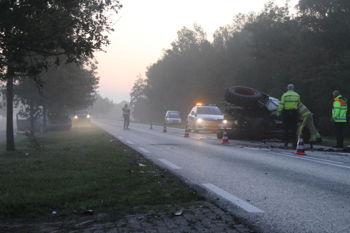 Ongeval tussen Wijhe en Raalte.