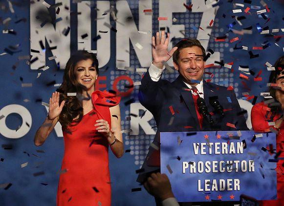 De Republikein Ron DeSantis haalde het als nieuwe gouverneur van Florida.