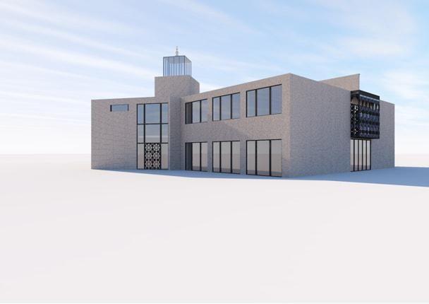 Een simulatie van de eerste bouwfase.